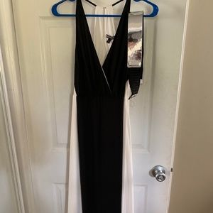 Express Black and White formal dress
